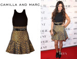 Vanessa Hudgens' Camilla and Marc 'Venice of Gold' Dress