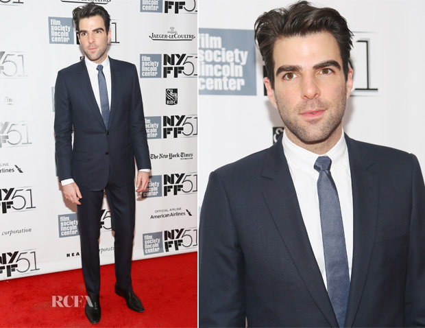 Zachary Quinto In Dior Homme - 'All Is Lost' New York Film Festival Premiere