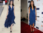 Zoe Saldana In Chloé - Share Our Strength's No Kid Hungry Dinner