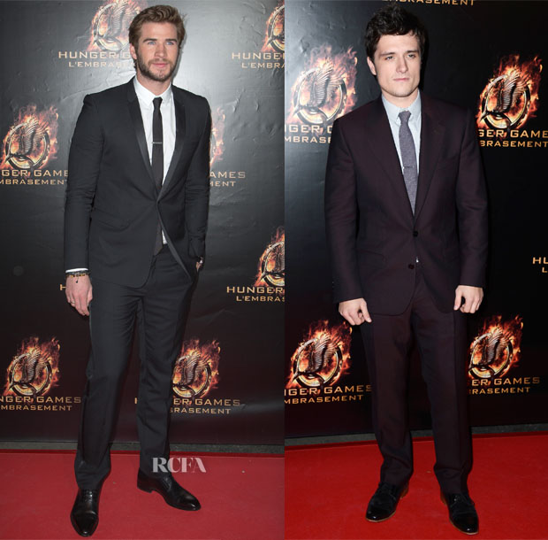 'The Hunger Games Catching Fire' Paris Film Festival Premiere Menswear Roundup