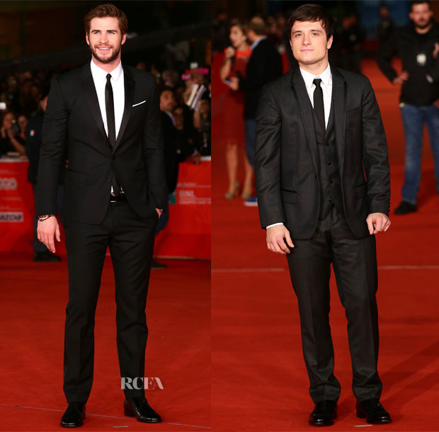 'The Hunger Games Catching Fire' Rome Film Festival Premiere Menswear Roundup
