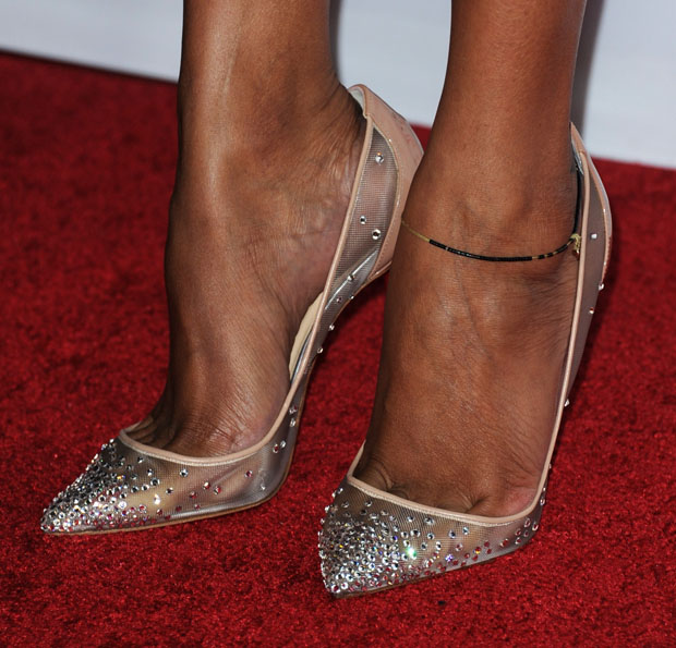Zoe Saldana's Christian Louboutin 'Body Strass' pumps
