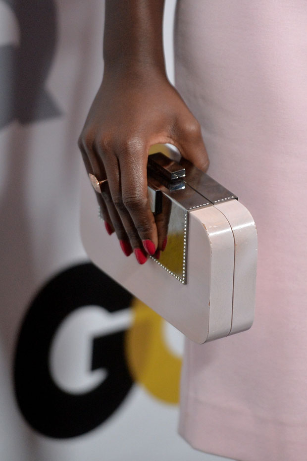 Lupita Nyong'o Devi Kroell clutch