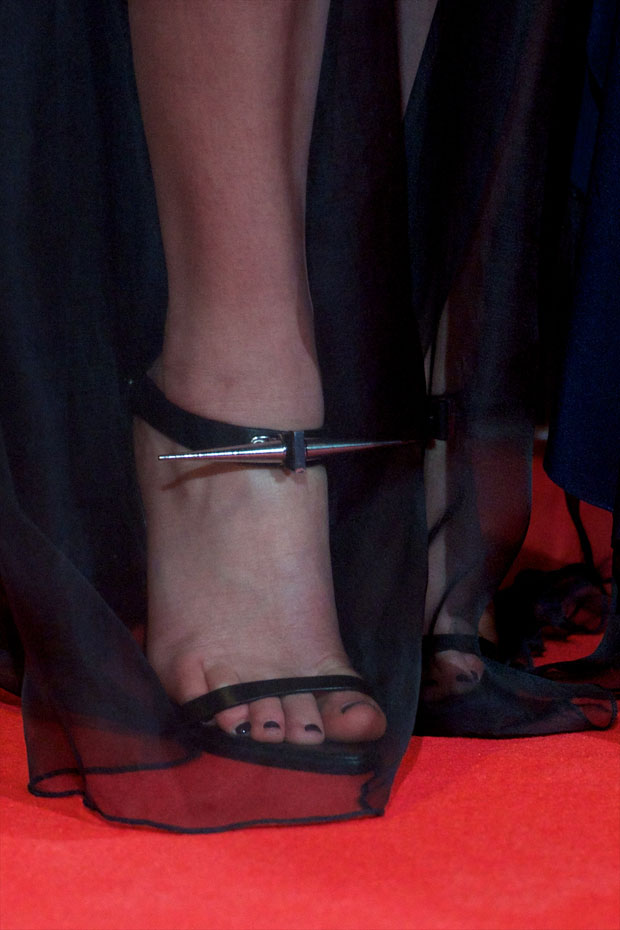 Jennifer Lawrence's Anthony Vaccarello shoes
