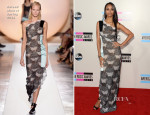 Zoe Saldana In Roland Mouret - 2013 American Music Awards