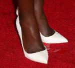 Lupita Nyong'o Christian Louboutin Batignolles python pumps