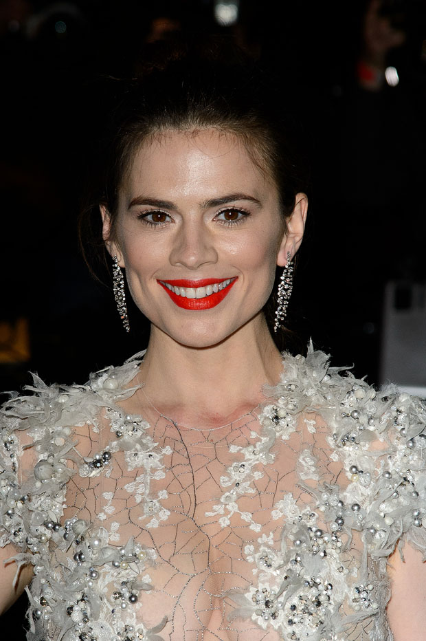 Hayley Atwell in Julien Macdonald