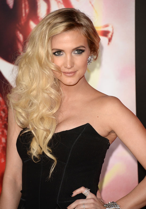 Ashlee Simpson in Amanda Wakeley