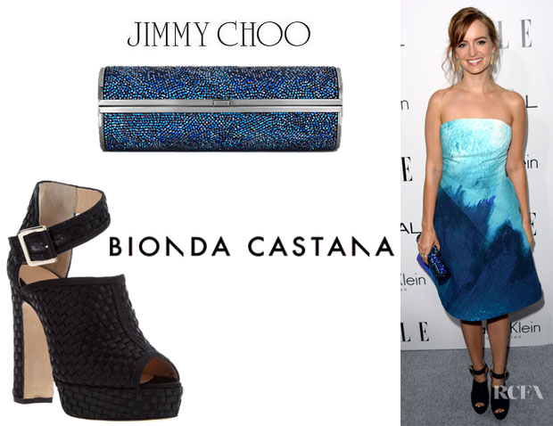 Ahna O'Reilly's Jimmy Choo 'Cosma' Clutch And Bionda Castana 'Christa' Booties