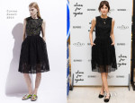 Alexa Chung In Carven - Eyeko Makeup Launch