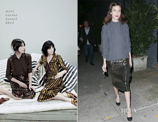 Alexa Chung In Marc Jacobs - Out In New York City