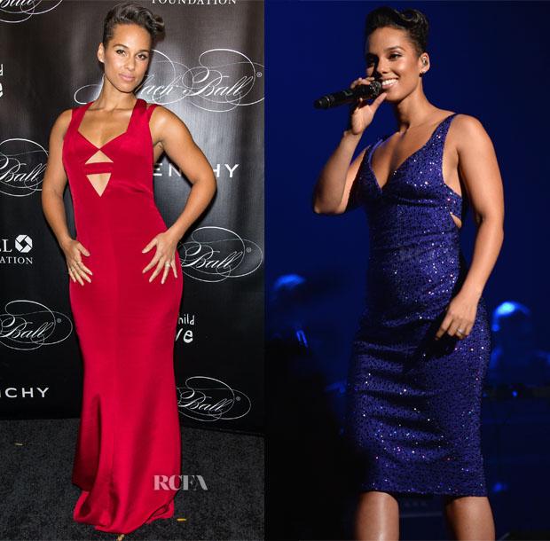 Alicia Keys In Cushnie et Ochs & Armani Privé - Keep A Child Alive's 10th Annual Black Ball