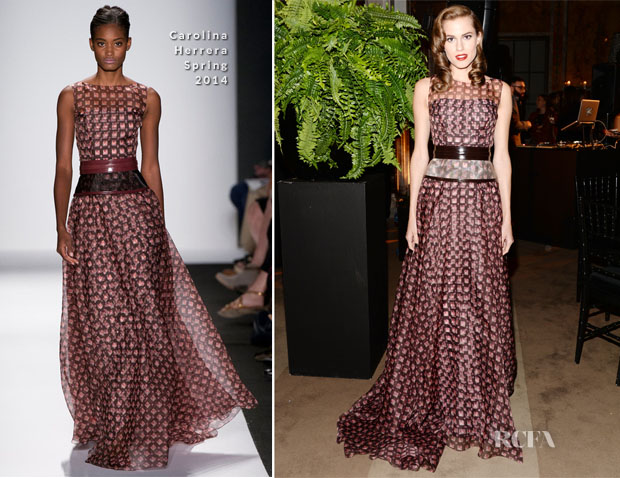 Allison Williams In Carolina Herrera - 2013 Library Lions Gala