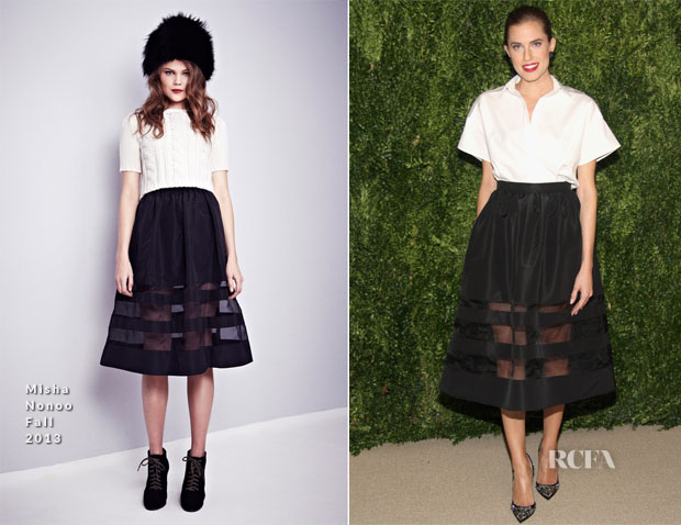 Allison Williams In Misha Nonoo Fall - CFDA Vogue 2013 Fashion Fund Finalists