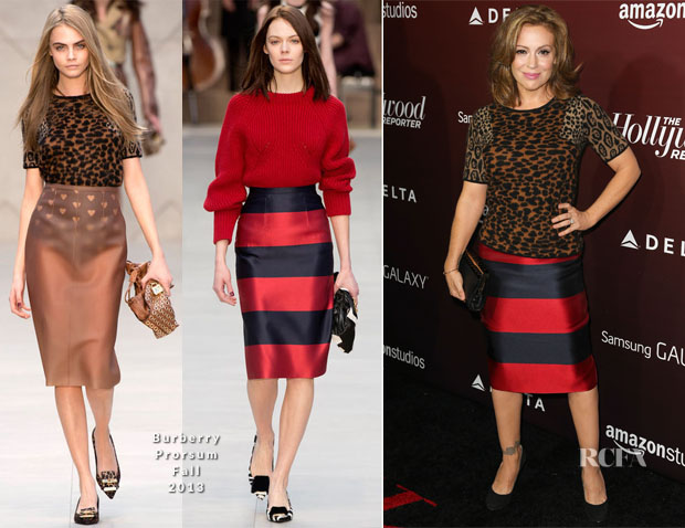 Alyssa Milano In Burberry Prorsum - The Hollywood Reporter's Next Gen 20th Anniversary Gala