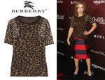 Alyssa Milano's Burberry Prorsum Animal Print Cashmere Sweater