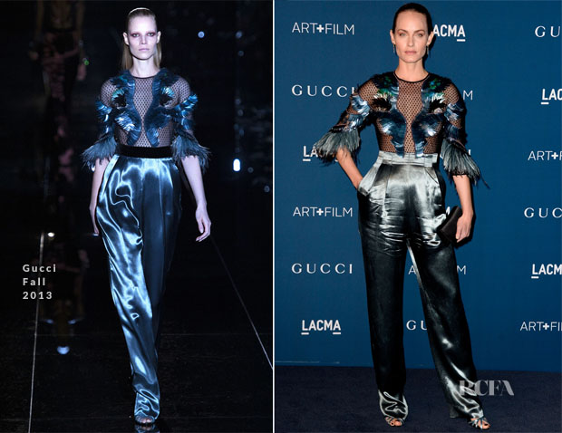 Amber Valletta In Gucci - LACMA Art + Film Gala 2013