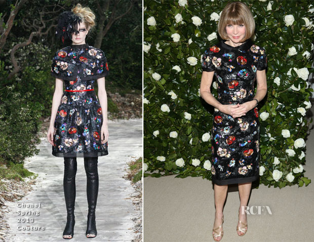 Anna Wintour In Chanel Couture - The Museum Of Modern Art 2013 Film Benefit A Tribute To Tilda Swinton