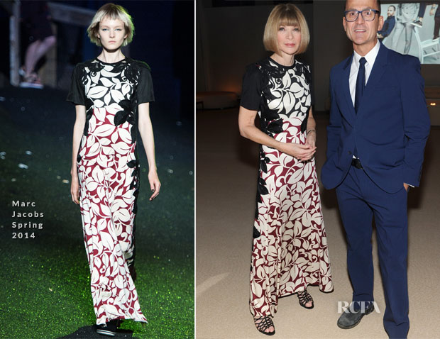 Anna Wintour In Marc Jacobs - CFDA Vogue 2013 Fashion Fund Finalists