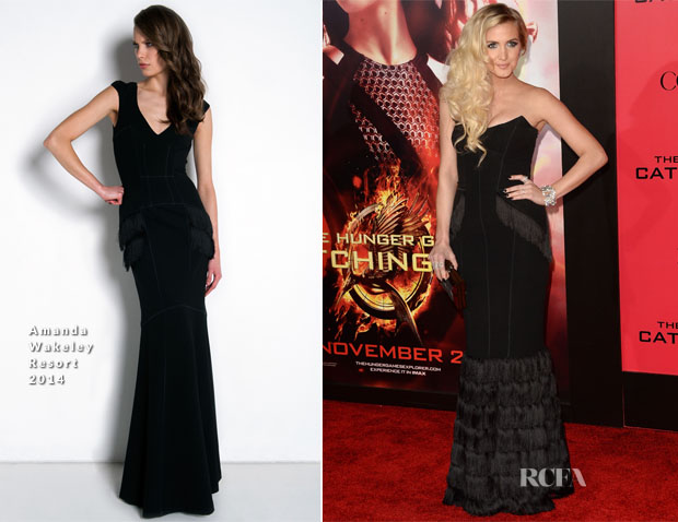 Ashlee Simpson In  Amanda Wakeley - 'The Hunger Games Catching Fire' LA Premiere