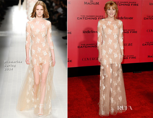Bella Thorne In Blumarine - 'The Hunger Games Catching Fire' LA Premiere