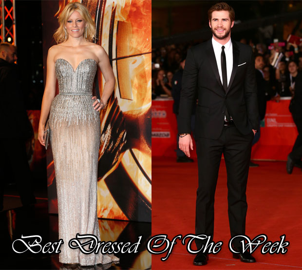 Best Dressed Of The Week - Elizabeth Banks In Elie Saab Couture & Liam Hemsworth In Dolce & Gabbana