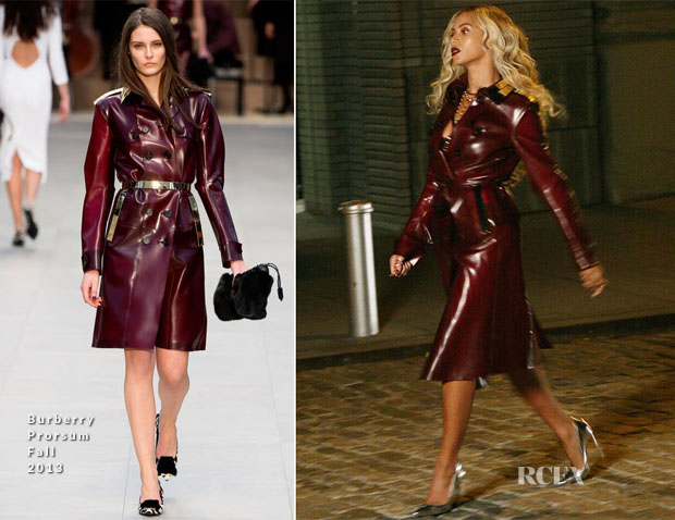 Beyonce Knowles In Burberry Prorsum - Music Video Shoot