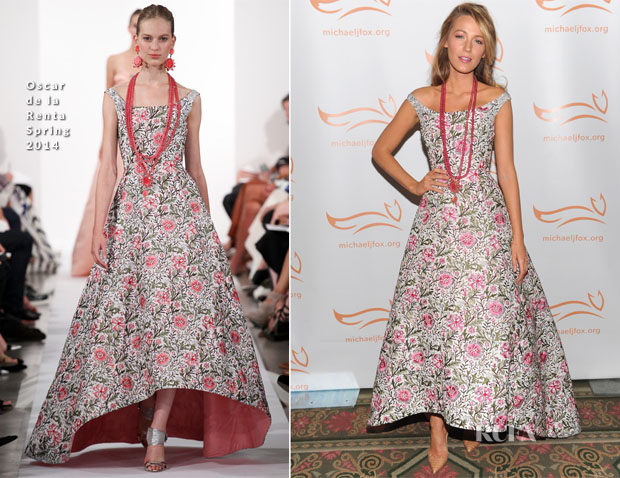 Blake Lively In Oscar de la Renta - 2013 A Funny Thing Happened On The Way To Cure Parkinson's