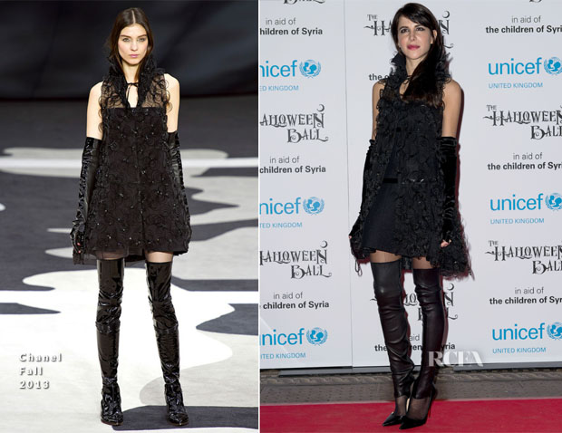 Caroline Sieber In Chanel - The UNICEF Halloween Ball