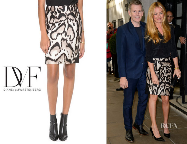 Cat Deeley's Diane von Furstenberg Mae Mikado Pencil Skirt