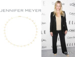 Chelsea Handler's Jennifer Meyer Gold Cross Bar Necklace