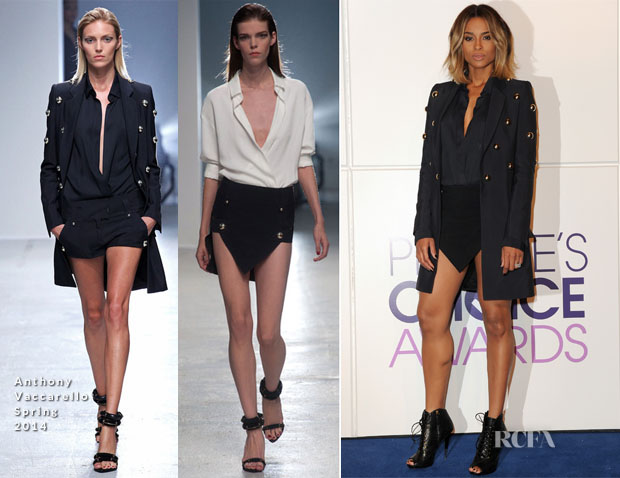 Ciara In Anthony Vaccarello - 2014 People's Choice Awards Nominations Announcement 2