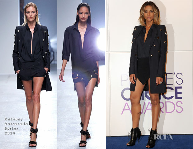 Ciara In Anthony Vaccarello - 2014 People's Choice Awards Nominations Announcement