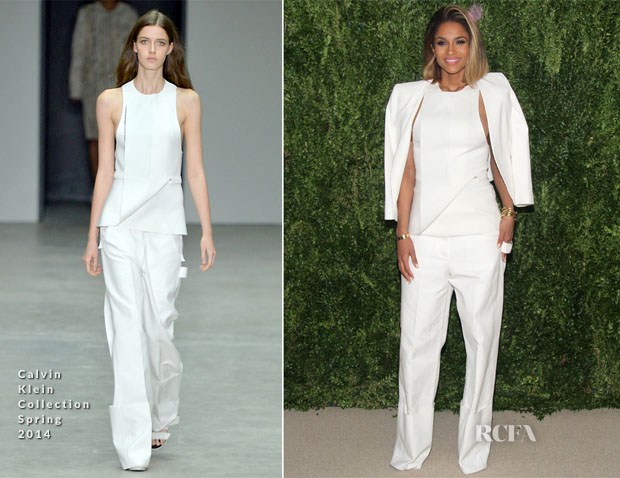 Ciara In Calvin Klein Collection - CFDA Vogue 2013 Fashion Fund Finalists