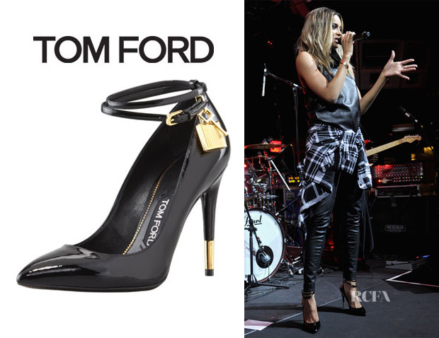 Ciara's Tom Ford Padlock Ankle-Strap Pumps