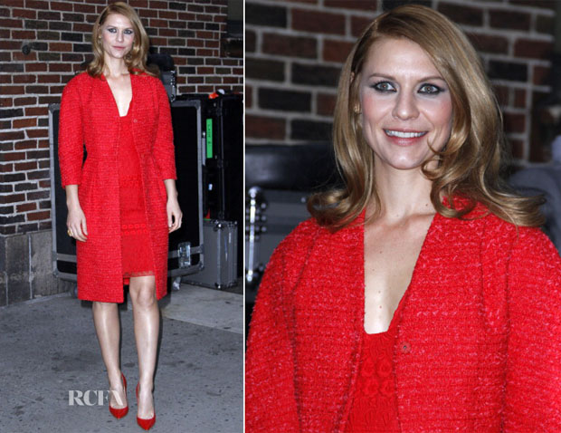 Claire Danes In Giambattista Valli - 'Late Show with David Letterman'