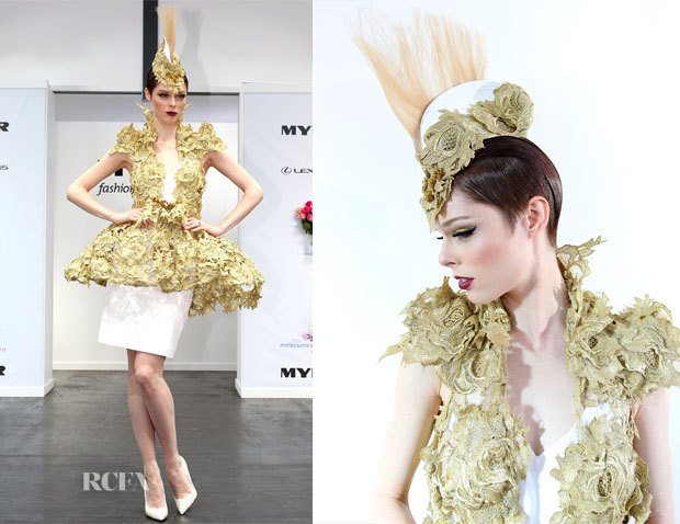 Coco Rocha In Anthony Capon and Aurelio Costarella - Oaks Day