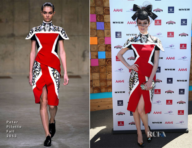 Coco Rocha In Peter Pilotto - Melbourne Cup Day