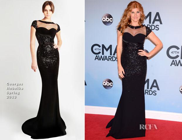 Connie Britton In Georges Hobeika - 2013 CMA Awards - Red