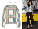 Daisy Lowe's Stella McCartney Plaid-Intarsia Knitted Sweater