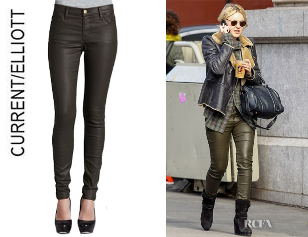 Dakota Fanning's CurrentElliott 'The Skinny' Ankle Pants