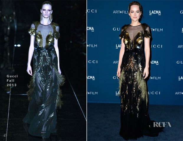 Dakota Johnson In Gucci - LACMA Art + Film Gala 2013