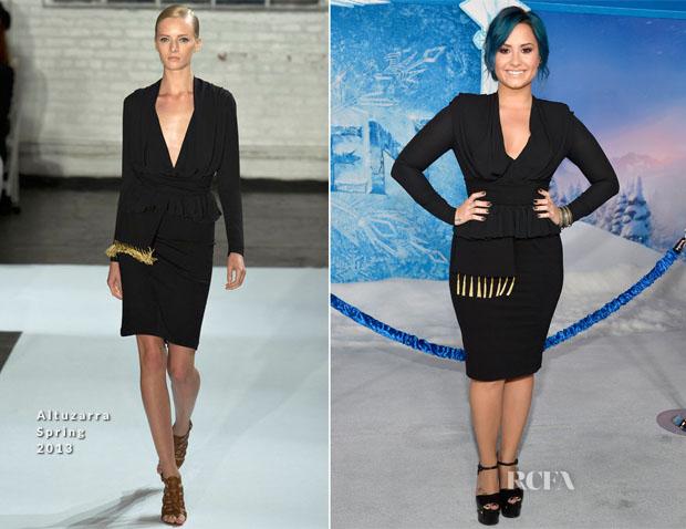 Demi Lovato In Altuzarra - 'Frozen' LA Premiere
