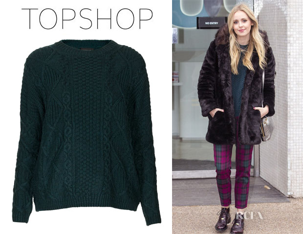 Diana Vickers' Topshop Knitted Angora Cable Jumper