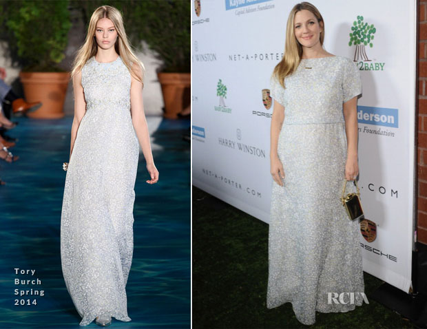 Drew Barrymore In Tory Burch - Second Annual Baby2Baby Gala