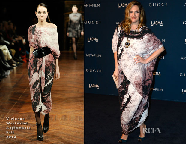 Drew Barrymore In Vivienne Westwood Anglomania - LACMA Art + Film Gala 2013