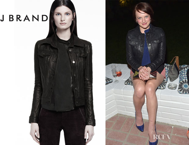 Elisabeth Moss' J Brand Classic Leather Jacket