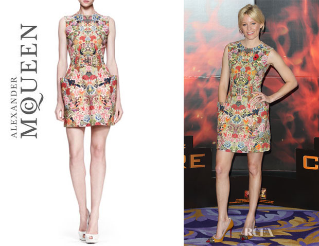 Elizabeth Banks' Alexander McQueen Floral Dress