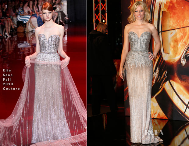 Elizabeth Banks In Elie Saab Couture - 'The Hunger Games Catching Fire' Berlin Premiere