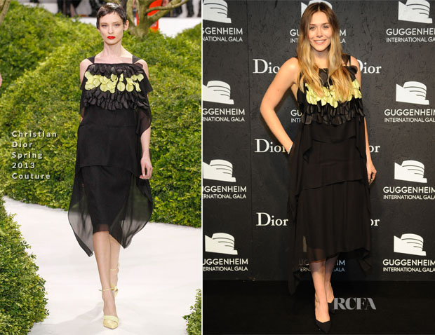 Elizabeth Olsen In Christian Dior Couture - Guggenheim International Gala